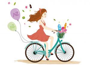 Fille à vélo AZ Tour